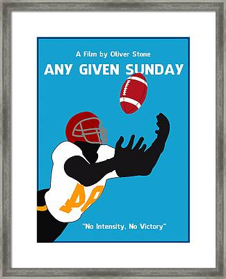 Any Given Sunday Minimalist Movie Poster Framed Print by Celestial Images