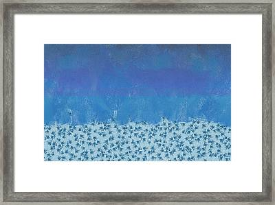 Anything But Blue Holiday Blues Framed Print by Lorri Crossno