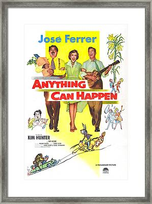 Anything Can Happen, Us Poster Framed Print by Everett