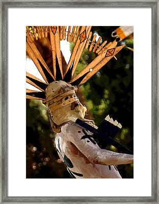 Apache Dancer Framed Print by Joe Kozlowski