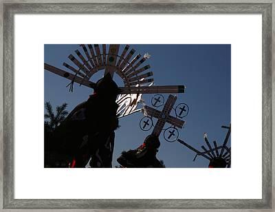 Apache Dancers Framed Print by Joe Kozlowski