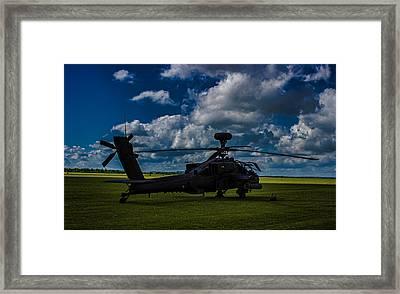 Apache Gun Ship Framed Print by Martin Newman