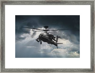 Apache Gunship Framed Print by J Biggadike