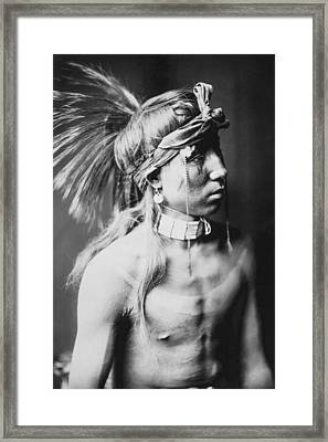 Apache Indian Circa 1905 Framed Print by Aged Pixel