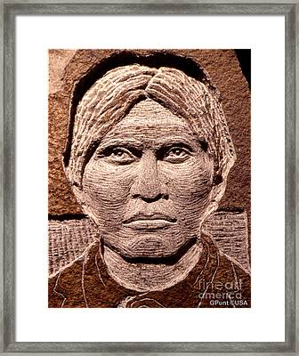 Apache-kid Framed Print by Gordon Punt