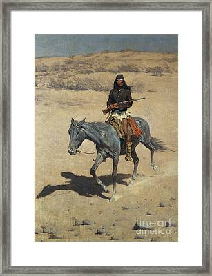 Apache Scout  Framed Print by Frederic Remington