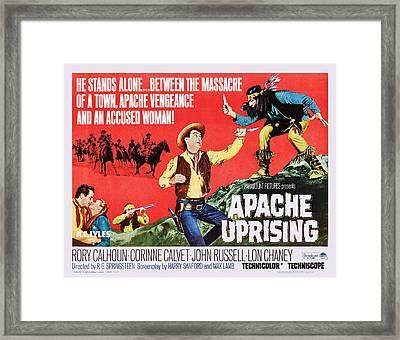 Apache Uprising, Us Lobbycard, Rory Framed Print by Everett