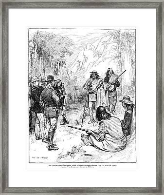 Apache Wars, 1883 Framed Print by Granger