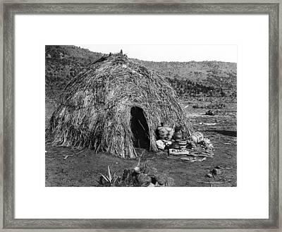 Apache Wickiup, C1903 Framed Print by Granger