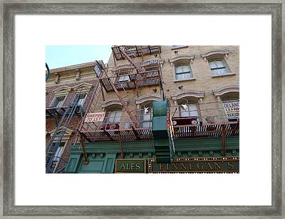 Apartment To Let At Finnegans Framed Print by Richard Reeve