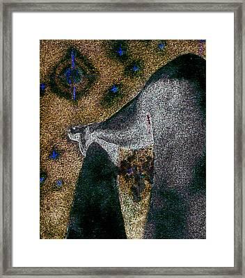 Aphrodite Holds Council With The Pleiades Framed Print by Nova Cynthia Barker