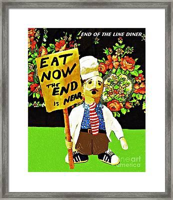 Apocalyptic Chef Framed Print by Sarah Loft