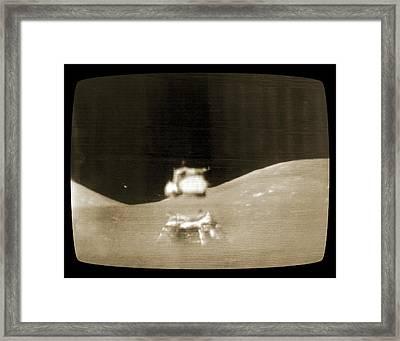 Apollo 17 Lunar Module Launch Framed Print by Nasa/detlev Van Ravenswaay