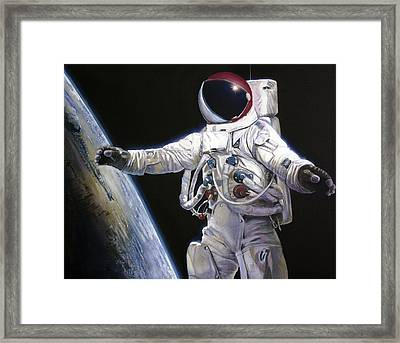 Apollo 9 - Schweickart On The Porch Framed Print by Simon Kregar