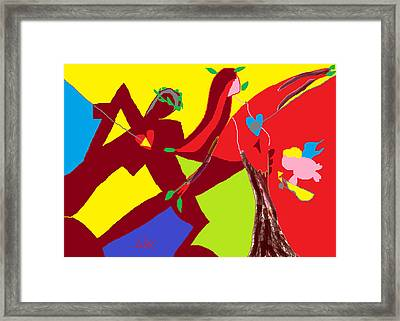 Apollo And Daphne  Framed Print by Anita Dale Livaditis