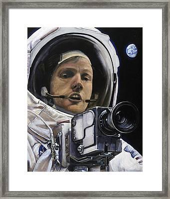 Apollo- For Mankind Framed Print by Simon Kregar