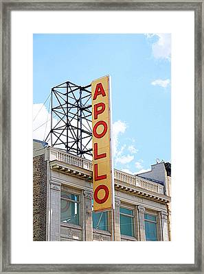 Apollo Theater Sign Framed Print by Valentino Visentini