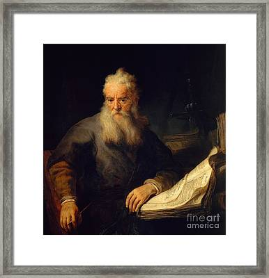 Apostle Paul Framed Print by Rembrandt