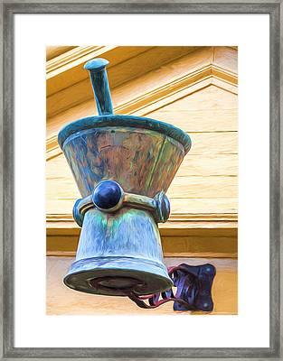 Apothecary - Mortar And Pestle Framed Print by Chris Bordeleau