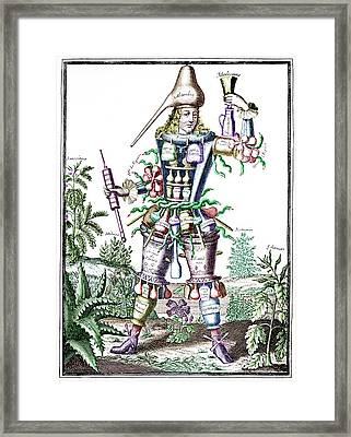 Apothecary Framed Print by Science Photo Library