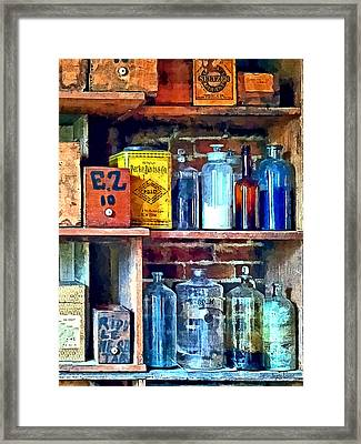 Apothecary Stockroom Framed Print by Susan Savad