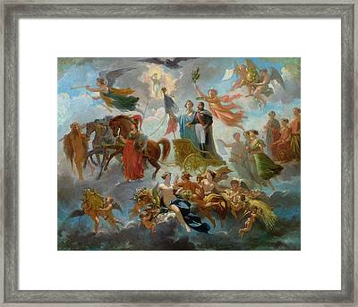 Apotheosis Of Napoleon IIi Framed Print by Guillaume-Alphonse Harang Cabasson