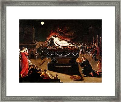 Apotheosis Of Semele Oil On Canvas Framed Print by Antoine Caron