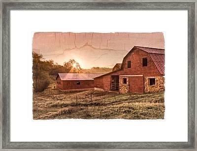 Appalachian Barns Framed Print by Debra and Dave Vanderlaan