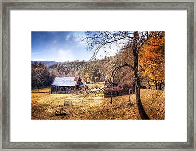 Appalachian Farm Framed Print by Debra and Dave Vanderlaan