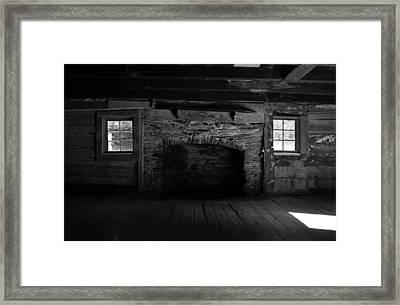 Appalachian Fireplace Framed Print by David Lee Thompson