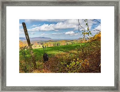 Appalachian Trail Hiker Framed Print by Bill Wakeley