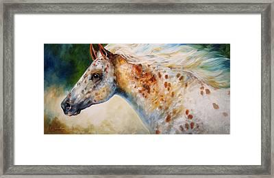 Appaloosa Spirit 3618 Framed Print by Marcia Baldwin