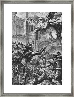 Apparition Of St Louis To Henri Iv Framed Print by Joseph de Longueil