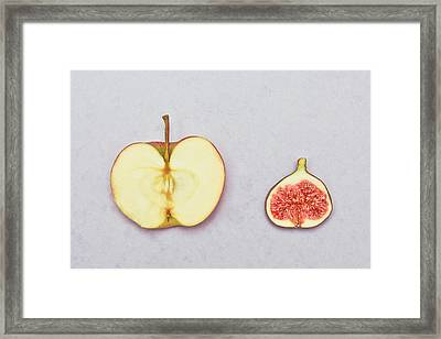 Apple And Fig Framed Print by Tom Gowanlock