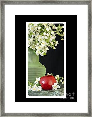 Apple Blossoms Card Framed Print by Edward Fielding