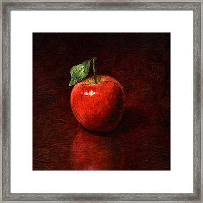 Apple Framed Print by Mark Zelmer