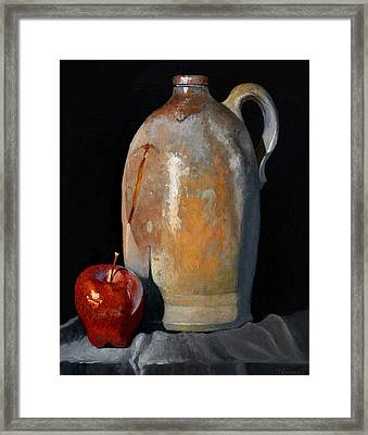 Apple Meets Crock Framed Print by Catherine Twomey