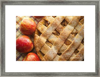 Apple Pie With Lattice Crust Framed Print by Diane Diederich