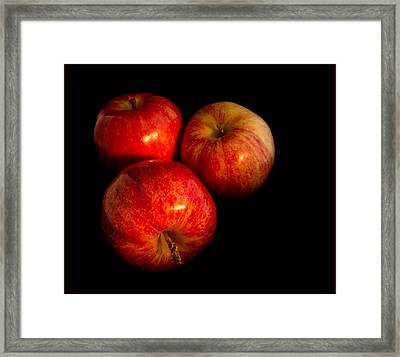 Apple Trio Framed Print by Jean Noren