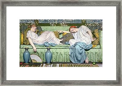 Apples Framed Print by Albert Joseph Moore