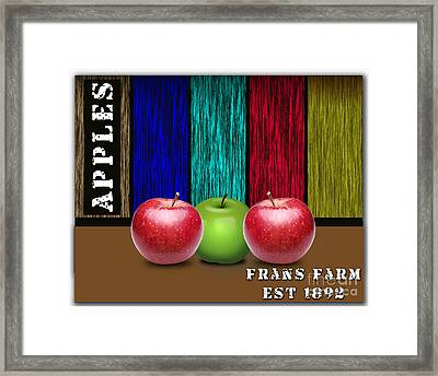 Apples Framed Print by Marvin Blaine