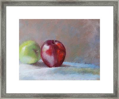 Apples Framed Print by Nancy Stutes