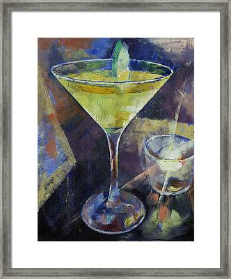 Appletini Framed Print by Michael Creese