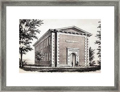 Appleton Cabinet Of Dinosaur Tracks Framed Print by Paul D Stewart