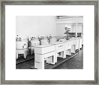 Appliance Store Display Framed Print by Underwood Archives