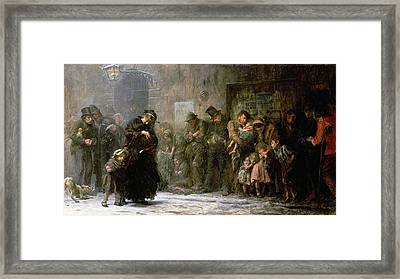 Applicants For Admission To A Casual Framed Print by Sir Samuel Luke Fildes