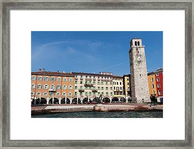 Apponale Tower, Piazza 3 Novembre, Riva Framed Print by Sergio Pitamitz
