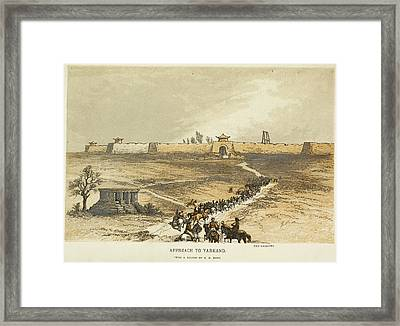 Approach To Yarkland. The Gallows Framed Print by British Library