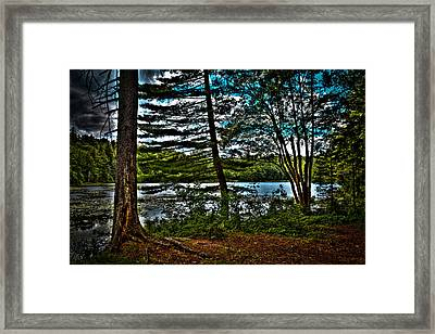 Approaching Cary Lake Framed Print by David Patterson