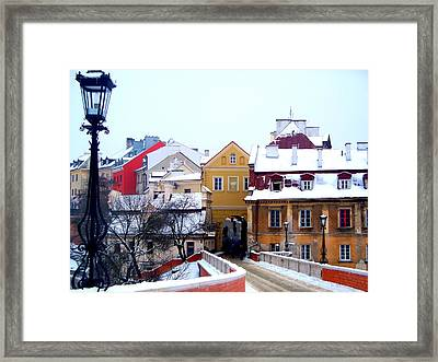 Approaching Old City Wall / Lublin Poland  Framed Print by Rick Todaro